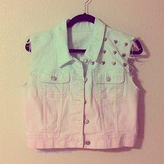 #studded #vests # jeans # fashion <3 Fashion Wear, I Love Fashion, Fashion Outfits, Jeans Fashion, Teen Fashion 2014, Rocker Style, Rocker Chic, Teenager Outfits, Jeans Style