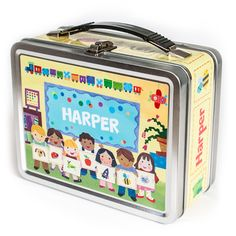 NEW! Off To School Personalized Lunch Box  #BackToSchool