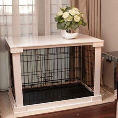 Pet Crate with Cover - White | PupLife Dog Supplies