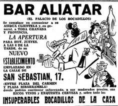 Publicidad del bar Aliatar publicada en IDEAL en 1957