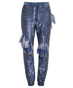 42becafd4691b ASHISH - Ripped Sequinned Jeans Blue Ripped Jeans, Torn Jeans, Denim Pants,  Blue