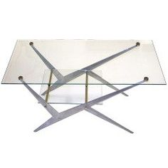 French 1950's Bi-Level Cocktail Table by Angelo Ostuni