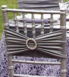Silver Buckles chair sashes
