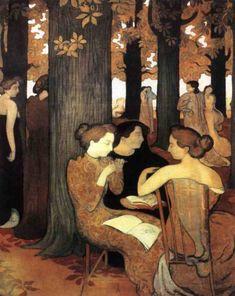 Le Muse, 1893, olio su tela, Maurice Denis. Musée d'Orsay, Parigi, Francia.