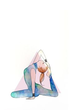 #postura de pombo rei #yoga desenho por Minne …