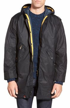 Barbour 'Kellen' Waxed Hooded Jacket available at #Nordstrom