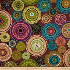 Michael Miller Norwegian Woods Aurora Borealis Forest Cocoa - Discount Designer Fabric - Fabric.com