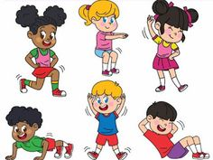 This fun and creative set of Kids Exercising Clip Art Set features 6 kids exercising. INCLUDED IMAGES - 6 color PNG images DPI perfect for printi. Physical Activities, Physical Education, Exercise For Kids, Teaching Resources, At Home Workouts, Literacy, Clip Art, Disney Characters, Children
