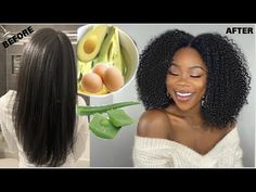 Intense Aloe Vera + Avocado protein treatment for massive hair growth. CURLY TO STRAIGHT ROUTINE - YouTube