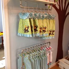 Adorable ideas for the kid's section, and hanging for anything in general.