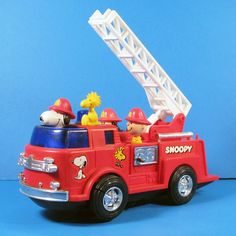 CollectPeanuts.com on Instagram - Where's the fire? #snoopy #woodstock #lucy #charliebrown #peanuts #firetruck #fireengine #fire #forsale #collectpeanuts #vintage #toy #firefighter #snoopygrams #snoopyfan #snoopylove #snoopycollection