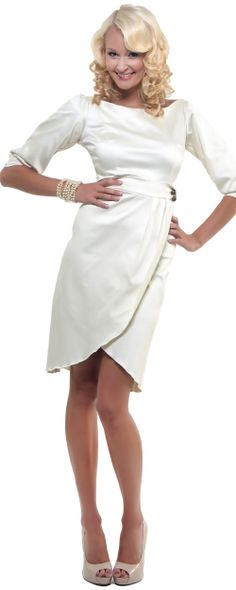 Fun and fancy white pin-up dress.