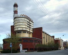 "Red Banner Textile Factory, St Petersburg, (Трикотажная фабрика «Красное Знамя»; Trikotazhnaya fabrika ""Krasnoye Znamya"") 1926-1937; Eric Mendelsohn)- - - - Photography by Burçin YILDIRIM, via Flickr"