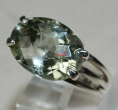 925 Pure Sterling Silver Natural GREEN AMETHYST Gemstones Beautiful Bracelet
