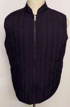 Michael Kors Mens Insulated Vest Navy Blue Front Zip Size #MichaelKors #InsulatedVest
