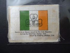 "PHILLIPS SILK 1925. ""IRISH REPUBLICAN STAMP"" FACSIMILE STAMP EASTER UPRISING1916 in Collectables, Cigarette/ Tea/ Gum Cards, Cigarette Cards | eBay"