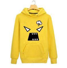 Angry emoji hoodie for teens fleece hooded sweatshirts xxxl