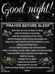 Good Night Prayer | Totally Inspired Mind