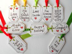 Personalized hang tags set of 10 for by ExiArtsConceptWorlds, $8.75