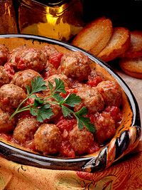 Meatballs in Tomato-Wine Sauce Recipe- Better Homes and Gardens