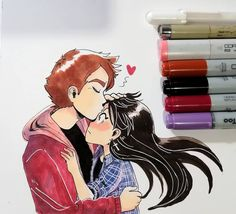 Copic, Bff, Instagram, Anime, Love, Drawings, Icons, Profile, Display
