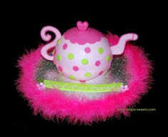 Pink and green polka dot teapot cake by Simply Sweets, via Flickr