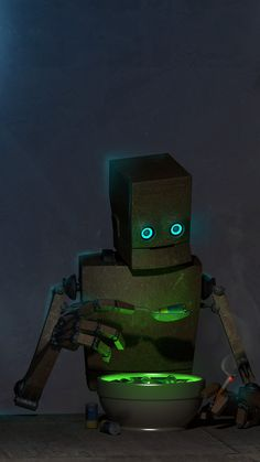 A Day in the Life of a Robot > Fab Goro Fujita inspired #art by Gunaars Miezis