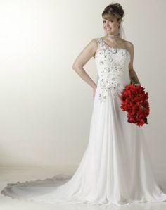 Este lindo vestido de noiva em chiffon voce encontra na Rosa Mello Vestidos Ref.: RM061 / 1o. aluguel R$ 2,400 http://www.rosamellovestidos.com