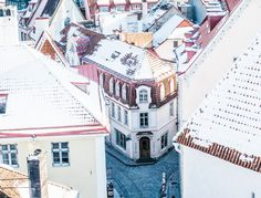 Old town Tallinn, As the sun pushed through the pastel shades of the old town, coffee shops began to fill up as many bundled inside to warm up over a cup of coffee and cake. Estonians love their ca…