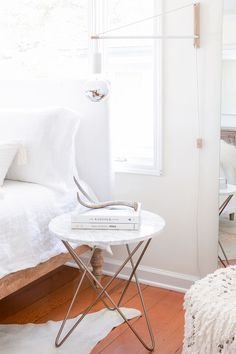 a perfectly accessorized bedside table.                                                                                                                                                                                 More
