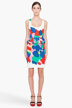 Marc By Marc Jacobs Multicolor Silk Blend Knit Dress.