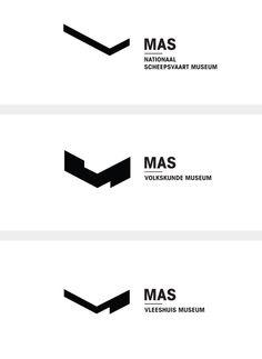 Fictional branding for MAS Antwerp, Belgium. Japanese Typography, Graphic Design Typography, Graphic Design Illustration, Typo Logo, Typographic Logo, Brand Identity Design, Branding Design, Logo Guidelines, Logos