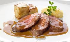 Receta de Presa de cerdo con puré de jerez y azafrán