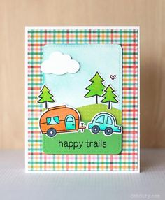 Check out my blog for a step by step photo tutorial for how I made this card - http://www.debduty.com/2015/02/lawn-fawn-happy-trails.html