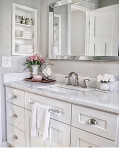 Bathroom Cabinets Free Standing Over Toilet White Bathroom Cabinets Free Standing Small Bathroom Renovations, Bathroom Renos, Bathroom Towels, Bathroom Mirrors, Bathroom Ideas, Simple Bathroom, Remodel Bathroom, Neutral Bathroom, Modern Bathroom
