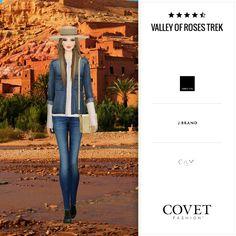 Jet set- Covet Fashion- valley of Roses Trek- by erika boveri