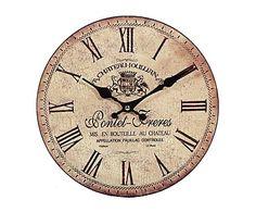 Reloj de pared de madera DM Emilia - Ø28 cm