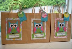 Owl Themed Birthday Party | For instructions on these wonderful little party favour bags, head ...