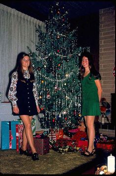 christmas, 1970...I had a tree that looked like that and also wore the same clothes..brings back memories