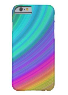 Rainbow Barely There iPhone 6 Case $44.15 *** Abstract rainbow fractal sky design *** rainbow - digital art - fractal - spectrum - dream - fantasy - happy - sky - beauty - abstract - curves - stripe - iPhone case