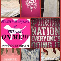 Limited offer!!! Limited time only! By any pair of jeans and get your choice of the shirts depicted…FREE!!! Other