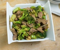 Easy weeknight beef + broccoli recipe!