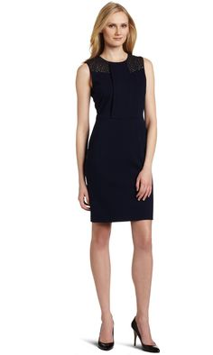 Vince Camuto Women's Zip Back Sheath Dress Different Dresses, Simple Dresses, Nice Dresses, Tailored Dresses, I Dress, Sheath Dress, Work Dresses For Women, Casual Work Outfits, Dress Images