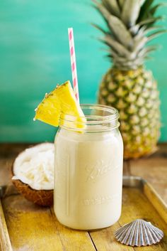 1/2 cup of coconut water   1 ½ cups diced pineapple (fresh or frozen)   1/2 inch peeled ginger knob   1/2 cup of ice  Handful of spinach  1 teaspoon of turmeric  Dash of cayenne pepper