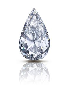 The Flame: an incredible 100 carat pear shaped D Internally Flawless diamond #diamonds #Graff