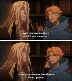 The Belmonts have some answering to do. Castlevania Dracula, Alucard Castlevania, Castlevania Netflix, Hades And Persephone, Picture Movie, Cartoon Shows, Animation Series, All Anime, Dark Fantasy