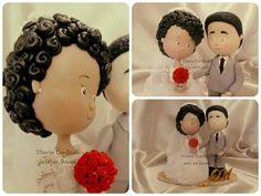 Bodas de ouro #ColdPorcelain #bodasdeouro #casamento #festa #decoração #casamento #topodebolopersonalizado #topodebolo ♥Orçamentos cacauphn@hotmail.com ♥ Watsap 11 984775720 ♥ www.biscuitdacacau.com.br ♥ Feito com carinho!