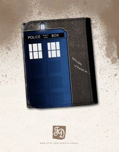 Doctor Who TARDIS leather wallet by FeerieDoll on Etsy, $25.00
