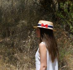 canotier marinero Tocados Chic by Inma Segovia Snapback, Hats, Fashion, Boater, Saying Goodbye, Fascinators, Wedding, Moda, Hat
