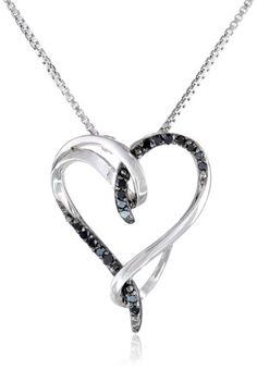 #blackdiamondgem Sterling Silver Black Diamond Interlocking Heart (1/10cttw) Pendant Necklace, 18″by Amazon Curated Collection - See more at: http://blackdiamondgemstone.com/jewelry/necklaces/pendants/sterling-silver-black-diamond-interlocking-heart-110cttw-pendant-necklace-18-com/#sthash.lmVmsHLk.dpuf